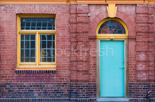 Baksteen gebouw wonder architectuur nieuwe Stockfoto © rghenry