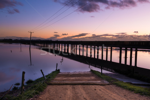 Trestle Bridge Dawn Stock photo © rghenry