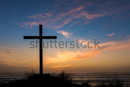Black Cross and Jesus Christ Stock photo © rghenry