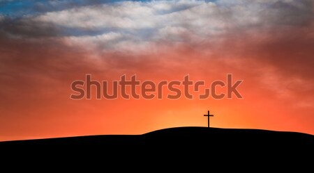 Sky Cloud Cross Stock photo © rghenry