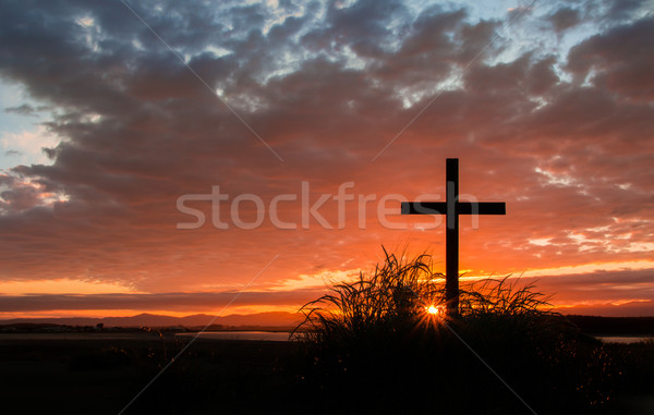First Light Cross Stock photo © rghenry