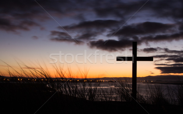 Sunrise Salvation Cross Stock photo © rghenry