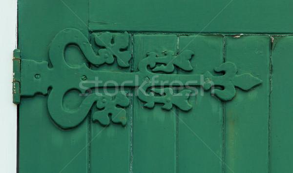 Velho porta dobradiça maravilhoso abstrato ferro Foto stock © rghenry