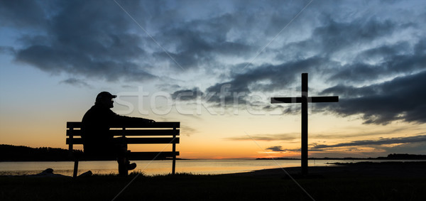 End of Day Cross Stock photo © rghenry