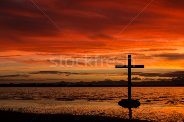 Red Dawn Cross  Stock photo © rghenry