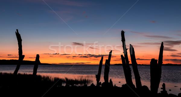 Foxton Beach River Sunset Stock photo © rghenry