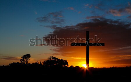 Hill Top Sunset Cross Stock photo © rghenry