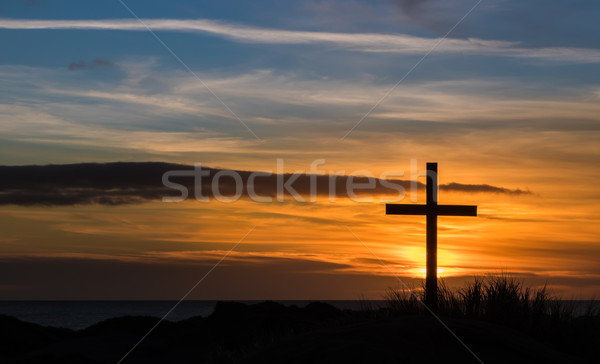 Golden Sky Cross Stock photo © rghenry