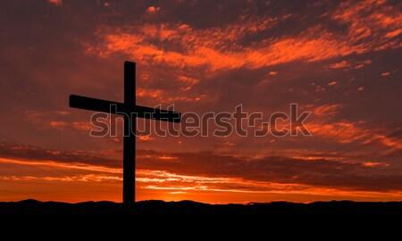 Misty Black Cross Stock photo © rghenry