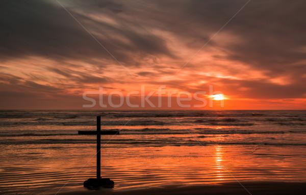 Faith Sunset Cross Stock photo © rghenry