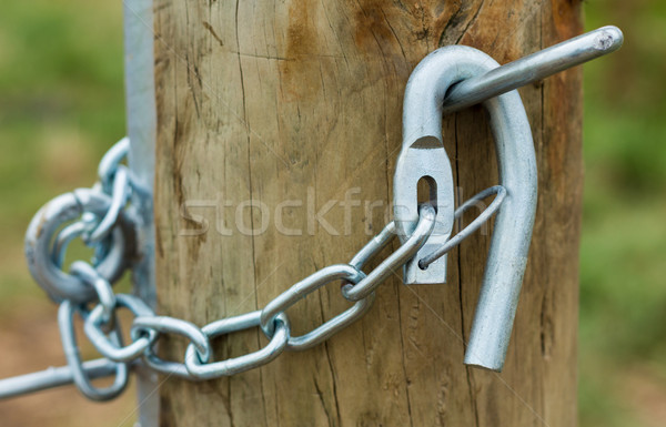 Galvanized Gate Hook Stock photo © rghenry