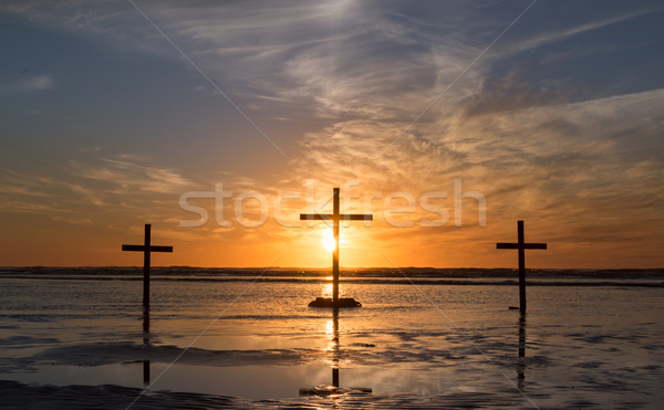 Three Cross Waters Sunset. Stock photo © rghenry