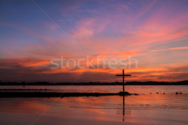 Sky Of Salvation Cross Stock photo © rghenry