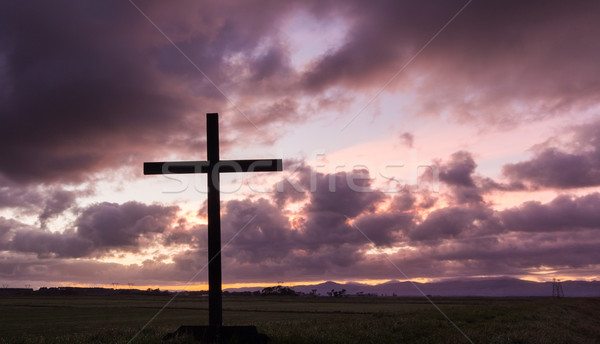 Morning Cloud Cross Stock photo © rghenry