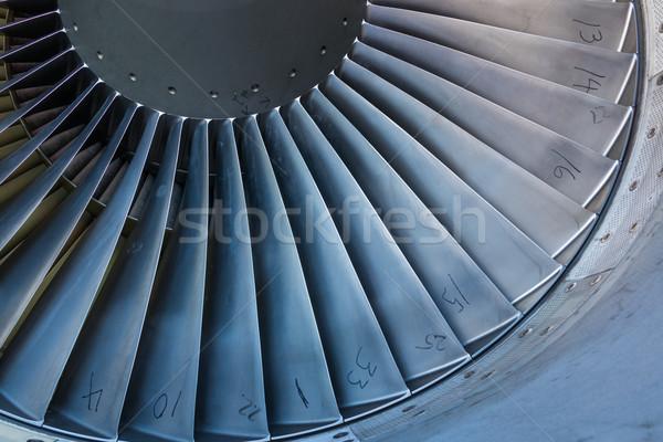Jet binnenkant motor vinden technologie vliegtuig Stockfoto © rghenry