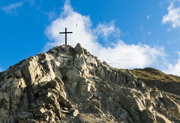 岩 丘 クロス 1 黒 先頭 ストックフォト © rghenry