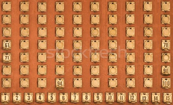 Değiştirme tahta sayılar numara eski telefon Stok fotoğraf © rghenry
