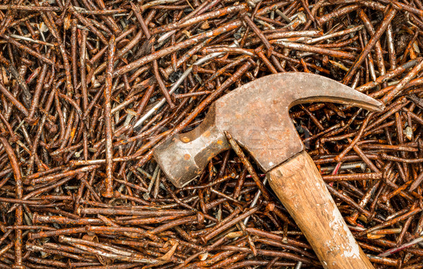 Hammer And Used Nails Stock photo © rghenry