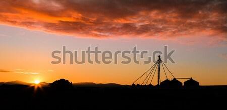 Sunrise Silos Stock photo © rghenry