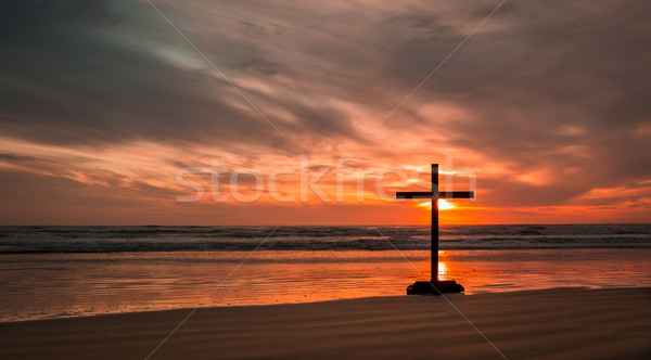 Salvation Beach Sunset Stock photo © rghenry