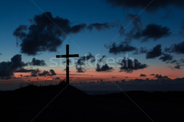 Stock photo: Dusk Cross