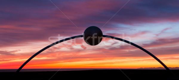 Arch all'alba sunrise cielo turistica Foto d'archivio © rghenry