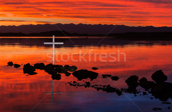Still River Waters Cross Stock photo © rghenry