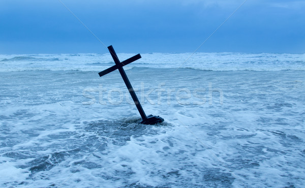 Cross In Storm Stock photo © rghenry