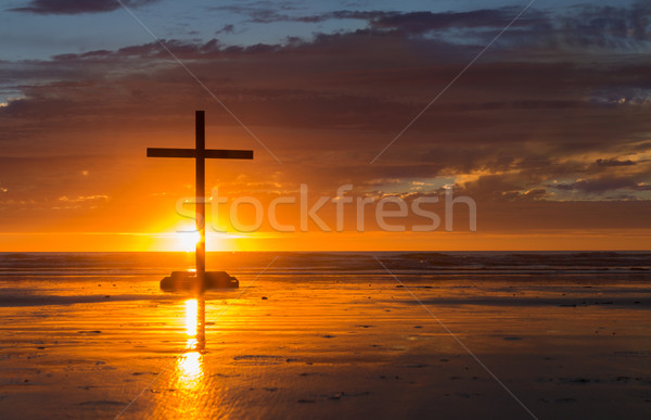 Setting Sun Cross Stock photo © rghenry