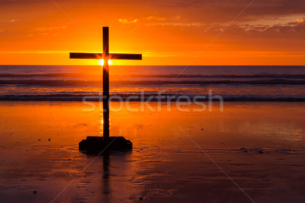 Salvation Cross Beach Stock photo © rghenry