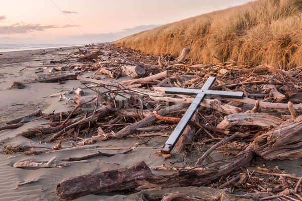 Stock photo: Drift Wood Cross