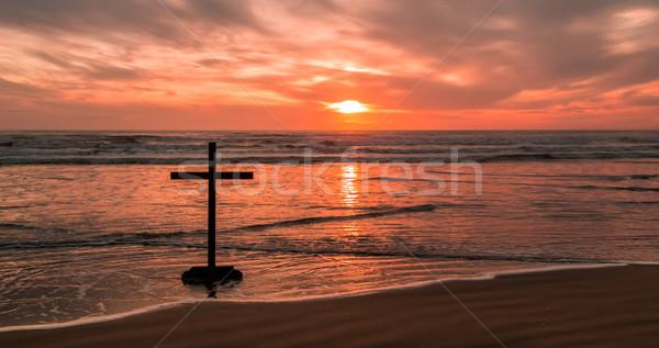 Dark Cross Beach Stock photo © rghenry