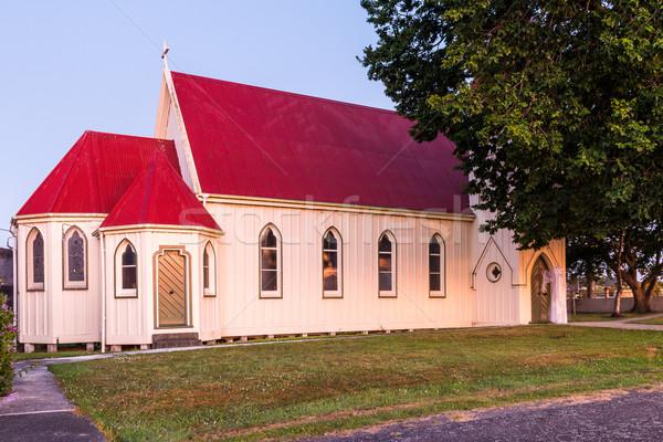 Kilise İsa Mesih ayakta ön kapı kapı Stok fotoğraf © rghenry
