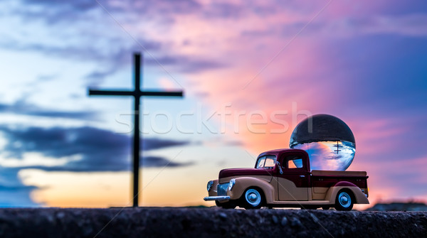 Cross In A Globe Stock photo © rghenry