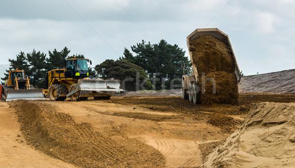 Inşaat otoyol toprak yeni sanayi endüstriyel Stok fotoğraf © rghenry