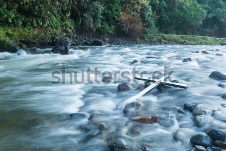 ストックフォト: 白 · クロス · 黒 · 木製 · 水