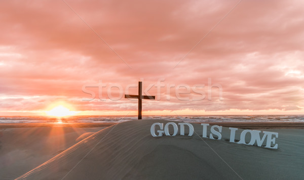 God is Love Sunset Sands Stock photo © rghenry