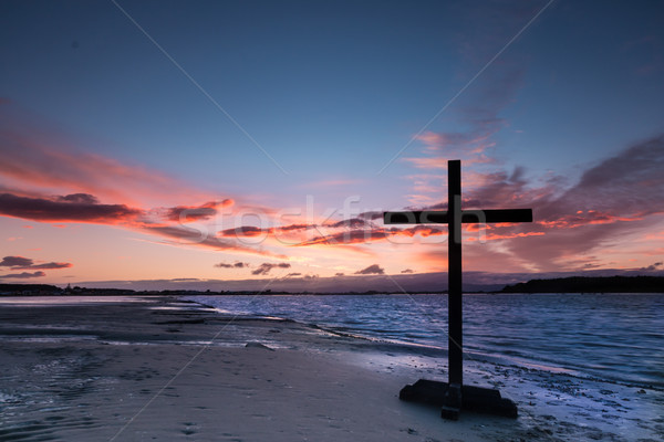 Riverside  Dawn Cross Stock photo © rghenry