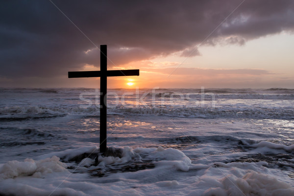 Storm Sunset Cross Stock photo © rghenry