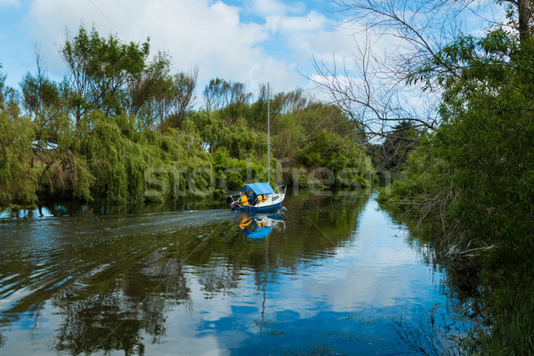 Blue Boat River Stock photo © rghenry