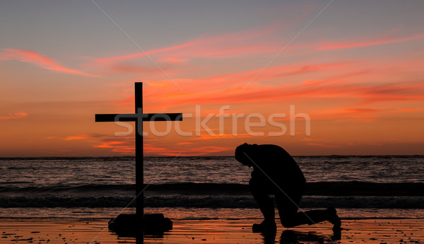 Beach Prayers Stock photo © rghenry