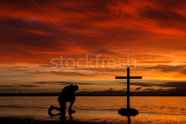 Red Dawn Praying Stock photo © rghenry