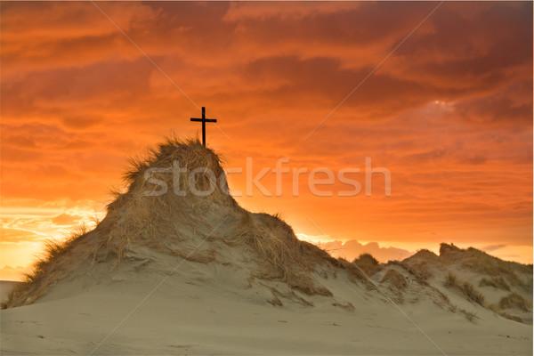 Golden Hill Sunset Stock photo © rghenry