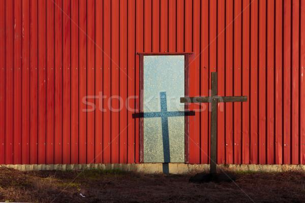 Megváltás kapualj élet kereszt fal Jézus Stock fotó © rghenry