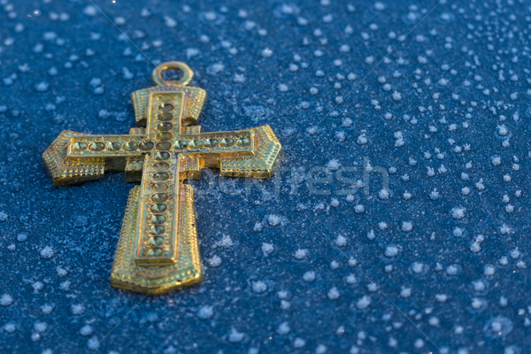 Gold Ice Cross Stock photo © rghenry