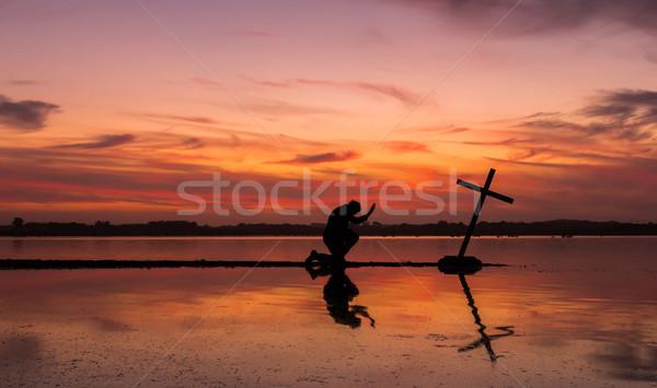 Power Of Prayer Cross Stock photo © rghenry