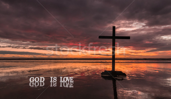 Reflection Cross God Is Love Stock photo © rghenry
