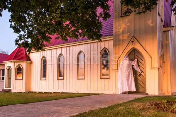 Jesús Cristo puerta pie iglesia puerta principal Foto stock © rghenry