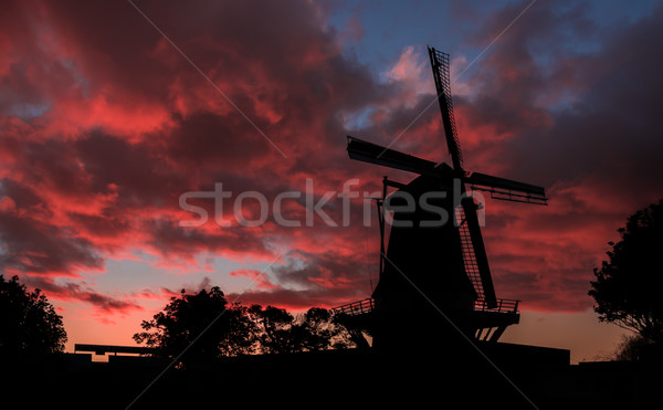 De Molen Red Sunset Stock photo © rghenry