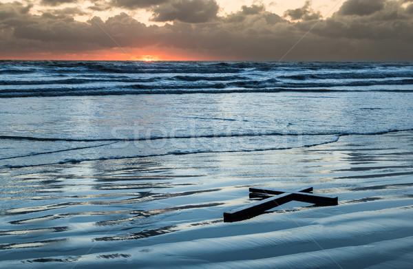 Beach Waters Cross Stock photo © rghenry